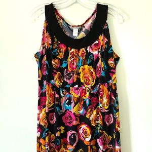 Favorite floral sleeveless dress